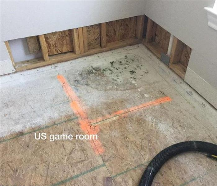 Game Room Mold Removal in Round Rock Texas Before